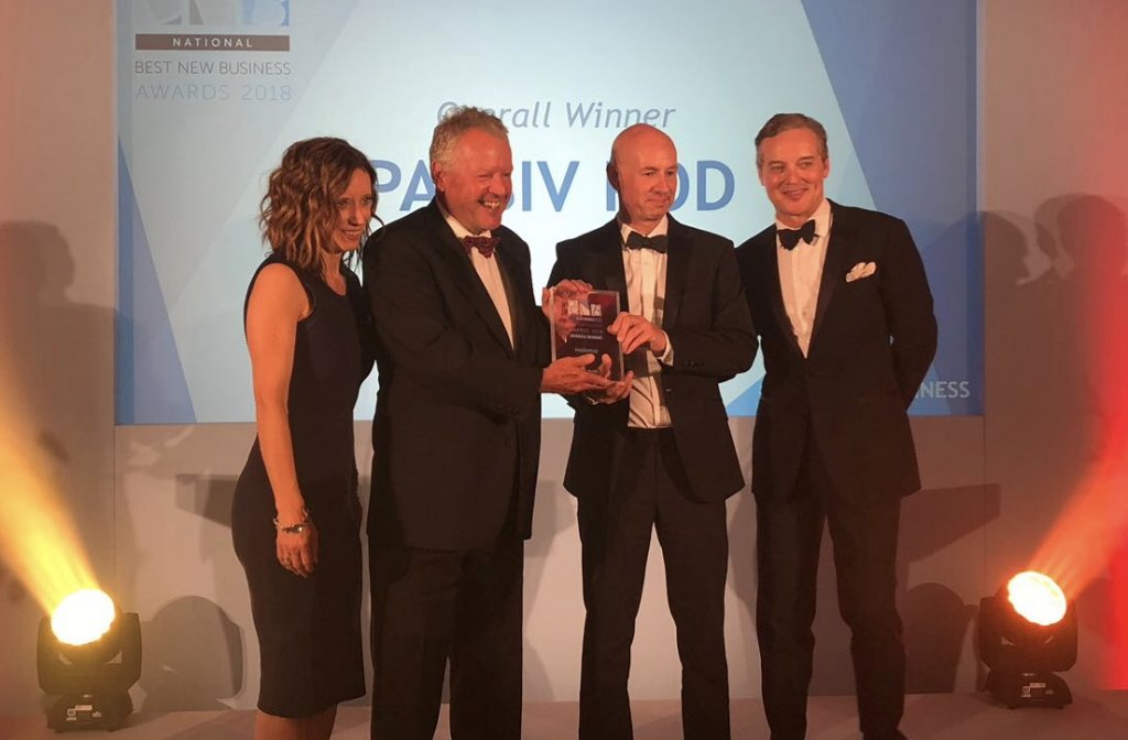 2.7.18 PassivPod wins Construction Business of the Year 2018News Blog News for Homepage
