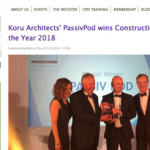 The Green Register, PassivPod, Eco Design, Award Winning, Construction Business of the Year, Best New Business Awards, Koru Architects