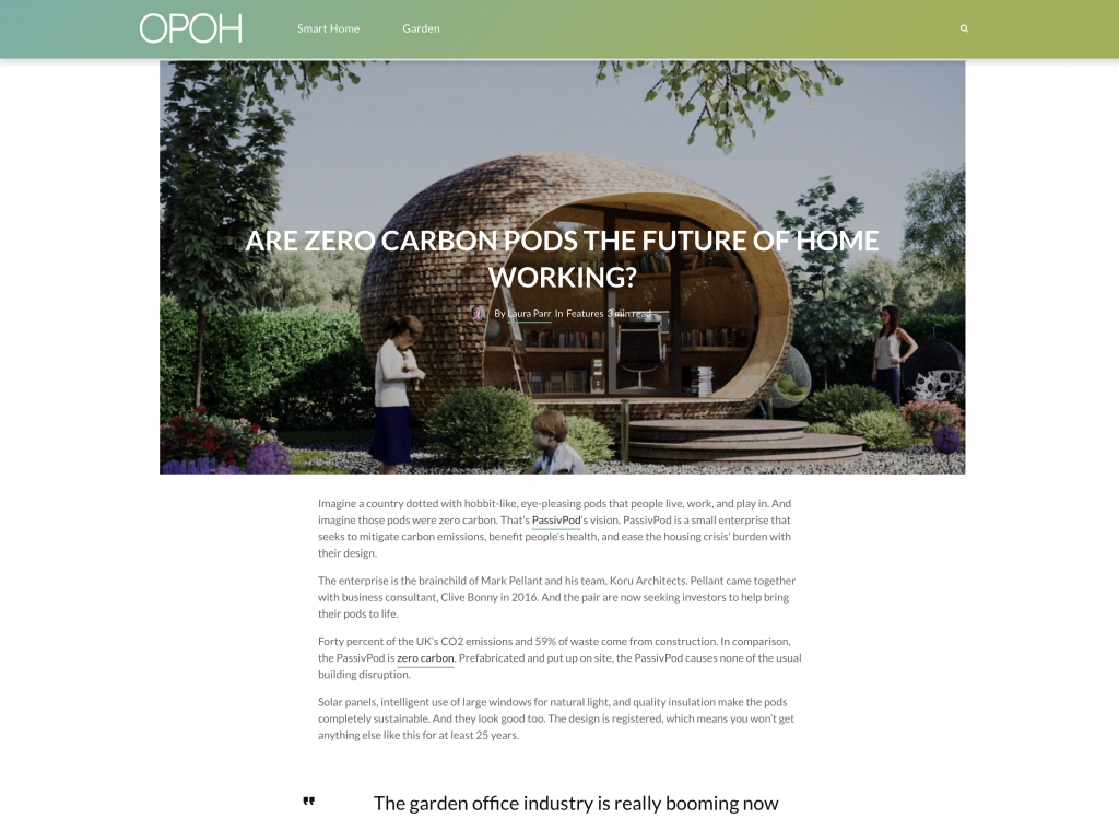 OPOH, September 2020News for Homepage Press Coverage